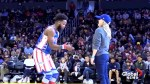 Reese Witherspoon  dances with the Harlem Globetrotters' Ant Atkinson