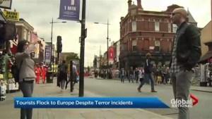 Travel to Europe increasing despite terror attacks