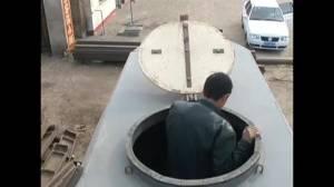 Chinese man shows off homemade submarine
