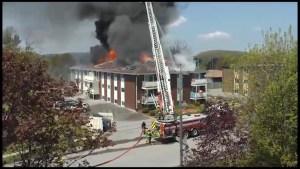 Fire rips through Port Hope apartment on Wellington Street