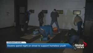 Dozens spend night on street to support homeless youth