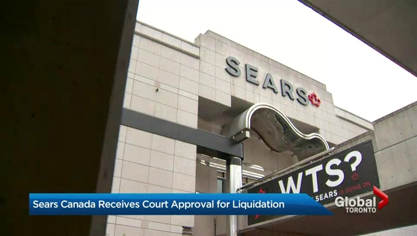 The liquidation of Sears Canada will begin on Thursday