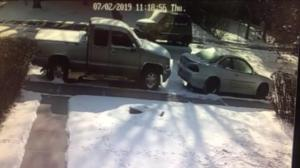 Vehicle hit and run captured on camera in Calgary's northeast