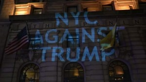 Anti-Trump protesters stage rallies across US, around world