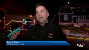 CFD battalion chief comments on Springbank Hill blaze