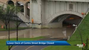 Centre Street Bridge closed for flood mitigation construction