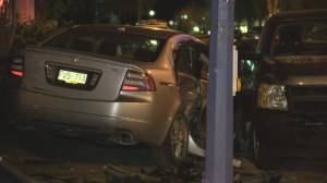 Car smashes into police cruiser in Vancouver's west end