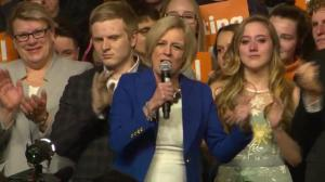 Alberta Election 2019: Notley says Alberta politics changed forever