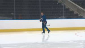 The Great One Wayne Gretzky hits the ice at Rogers Place