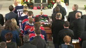 Members of Regina Pat Canadians bid farewell to Adam Herold