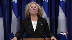 Marguerite Blais expresses sympathy for Gilles Duceppe and family