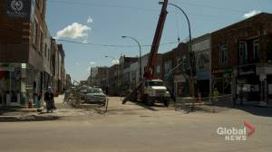 Montreal merchants worry about construction on St-Hubert Street
