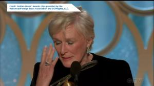 Golden Globes:  'We have to find personal fulfillment': Glenn Close reacts to Best Actress win
