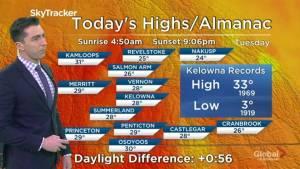Kelowna Weather Forecast: June 11