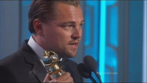 Leonardo DiCaprio shares Golden Globe with First Nations people