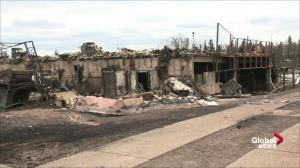 Video of apartment complex burned to the ground after hit by wildfire