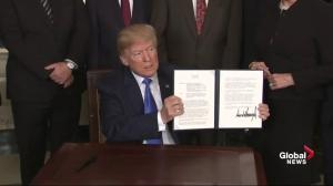 Donald Trump signs approximately $50 billion in new tariffs on China