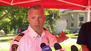 Fire department says some residents displaced by Kitchener explosion