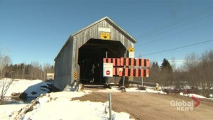 Historic New Brunswick bridge closed while undergoing repairs