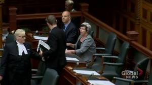 Ontario NDP MPP's removed 1 by 1 from legislature