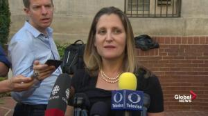 Freeland says they've decided to not conduct their NAFTA negotiations in public