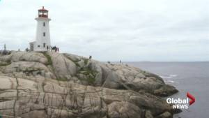 Read the signs, stay high and dry at Peggy's Cove