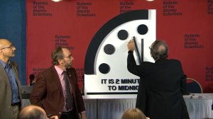 Doomsday Clock set at two minutes to midnight due to fear of nuclear war