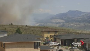 Grass fire breaks out in Kamloops