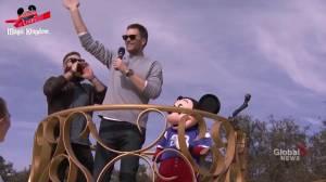 Tom Brady, Julian Edelman, Mickey Mouse celebrate Super Bowl win at Disney World