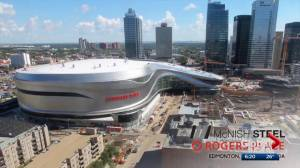 How does Calgary's tentative arena deal compare to deal to build Rogers Place in Edmonton?