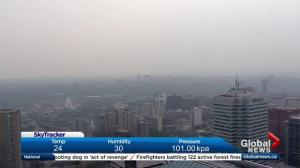 Wildfires prompt air quality advisory for Edmonton, most of province