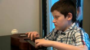 Boy with autism and visual impairment dazzles with ukulele performance