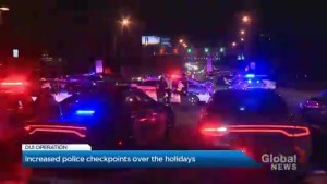 Quebec police increase roadblocks for the holiday season