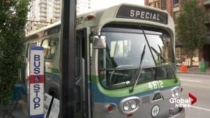 CKNW 75: Vintage B.C. transit bus makes appearance at public event