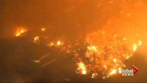 Powerful aerial footage shows the devastating scope of California wildfires