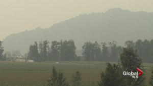 Smoke from interior fires drifts south