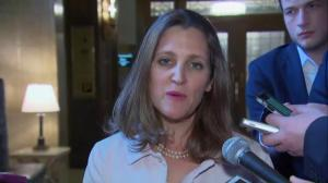 Freeland says NAFTA negotiations will continue, Canada's position unchanged