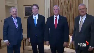Brett Kavanaugh's 'impeccable credentials' highlighted in meeting with Pence, McConnell