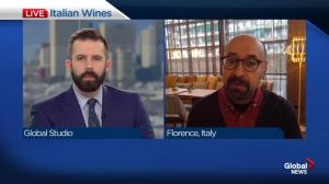 Edmonton wine guy joins morning news from Italy