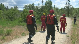 Kelowna fire crews perform swift water rescue on Mission Creek