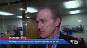 Rob Ford death 'doesn't feel fair' says Norm Kelly