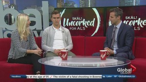 Calgary Flames' Mikael Backlund supports Uncorked for ALS