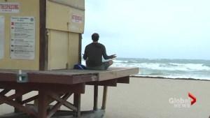 Reporter captures Miami Beach man having 'zen' moment at Hurricane Irma approaches