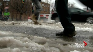 Winter weather hits Montreal