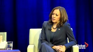 'Don't reward bad behaviour': Kamala Harris responds to Trump's demand for border wall funding