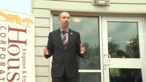 Kingston cuts the ribbon on new mixed affordable housing building (01:30)