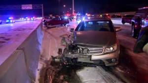 Snow squalls cause pileup on Hwy 401 Sunday morning