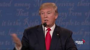"""Presidential debate: Donald Trump maintains all sexual assault allegations against him are """"fiction"""""""