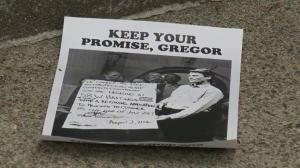 'Keep your promise, Gregor,' housing advocates say
