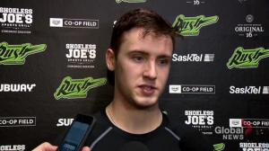 Zach Gould scores 1st NLL goal in front of Saskatchewan Rush fans